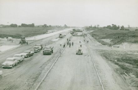 Historical Photo of Tollway Construction