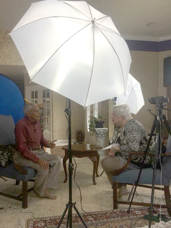 Interview between two people