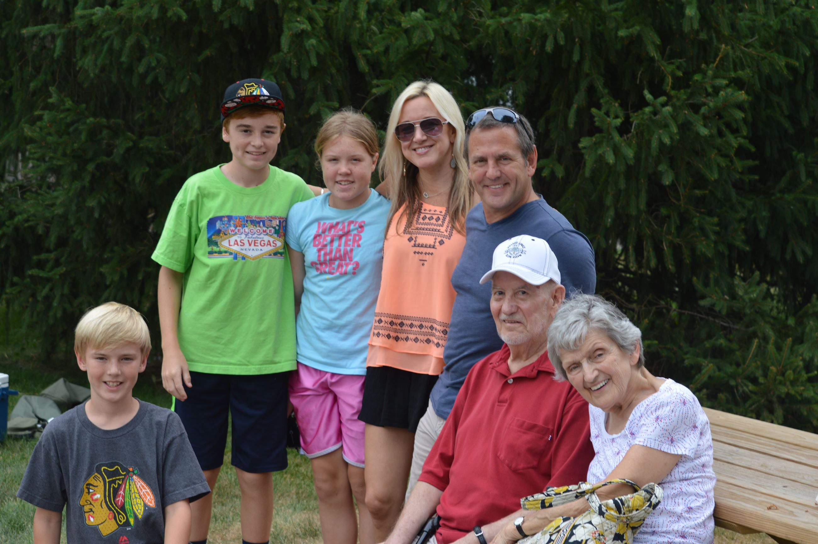 Family at Hometown Picnic at Naper Settlement