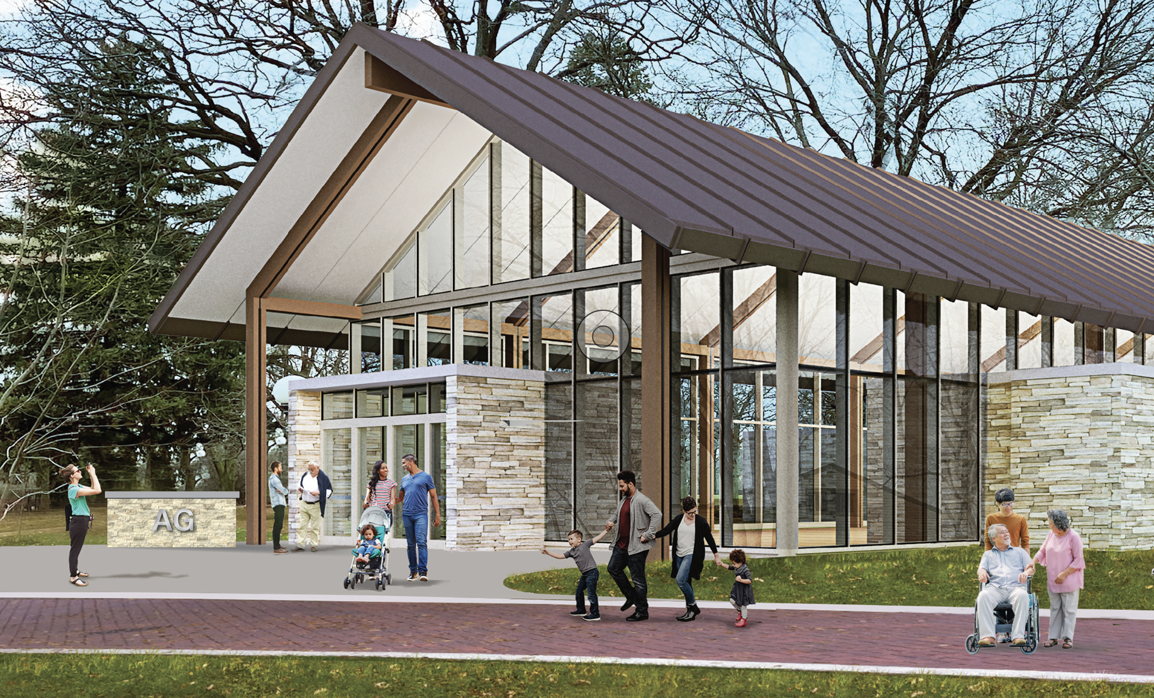 Rendering of the new Agricultural Interpretive Center at Naper Settlement