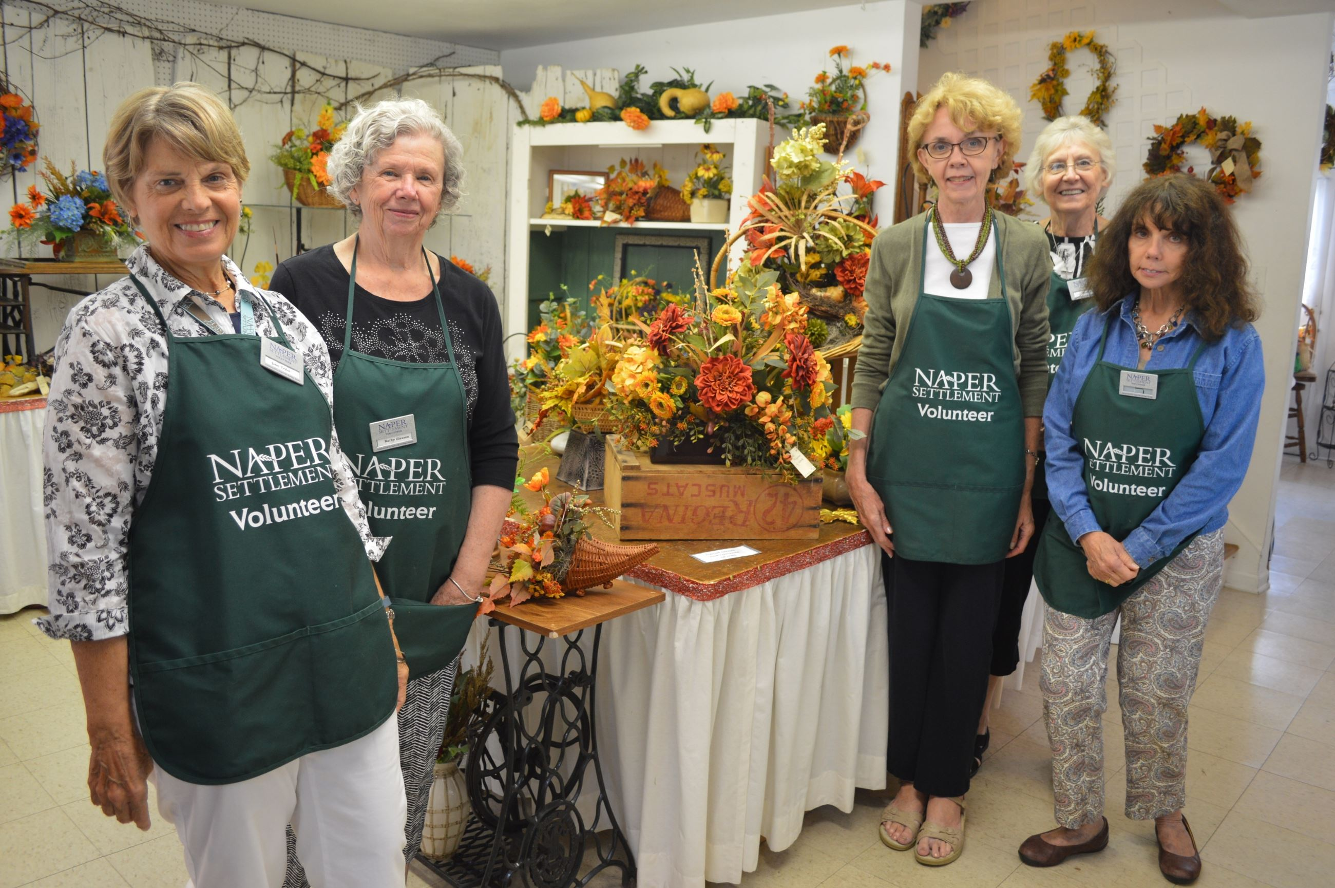 Weed Ladies Volunteers at Flower Sale