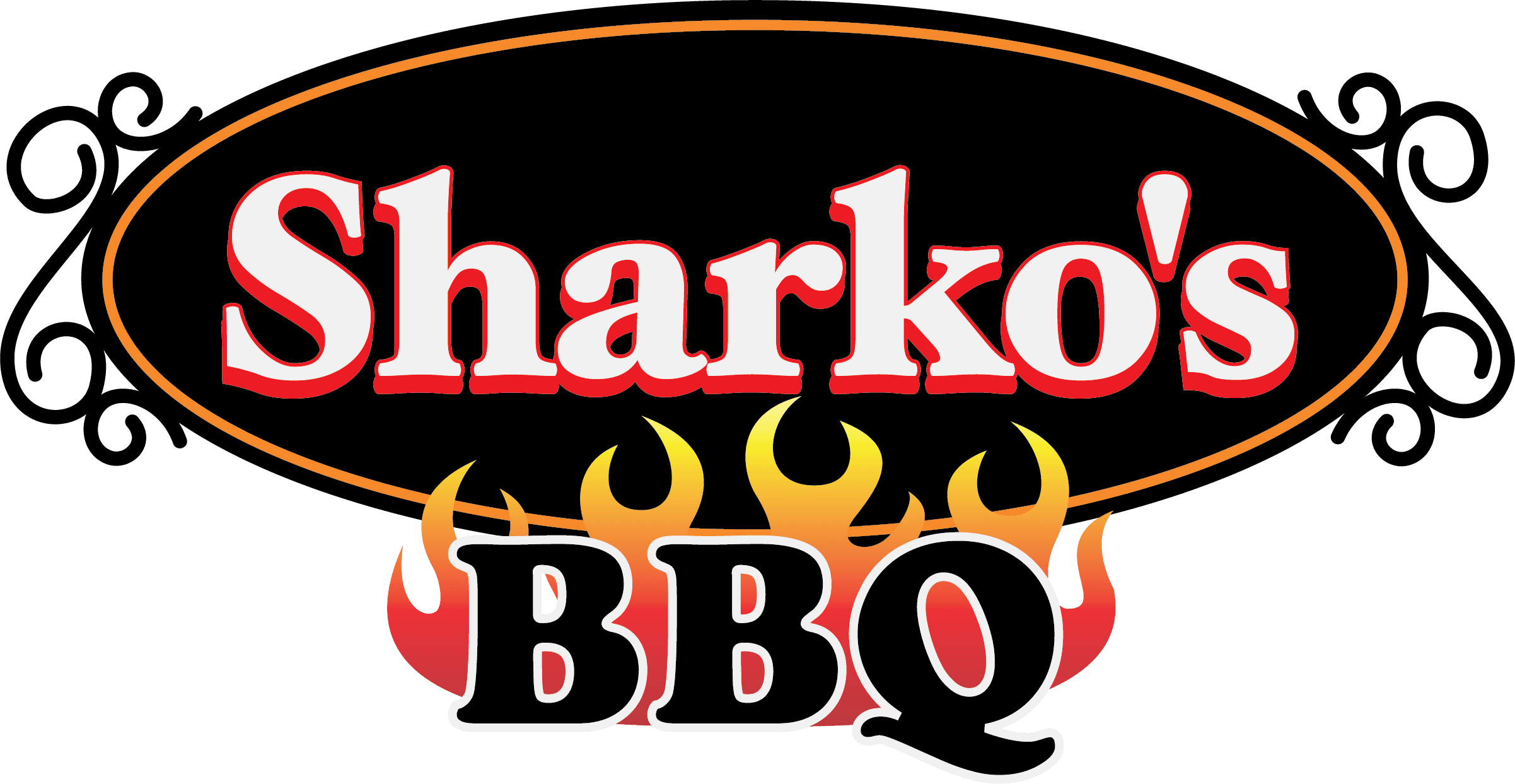 Sharkos Barbecue logo Opens in new window