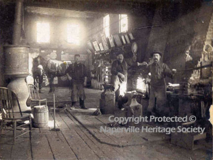 Workers in the Blacksmith Shop